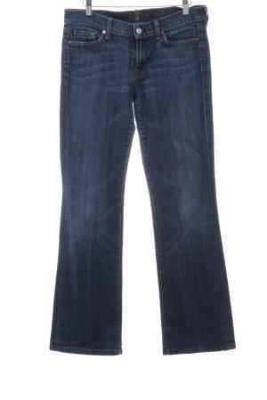 7 For All Mankind Jeansschlaghose dunkelblau-himmelblau Vintage-Look