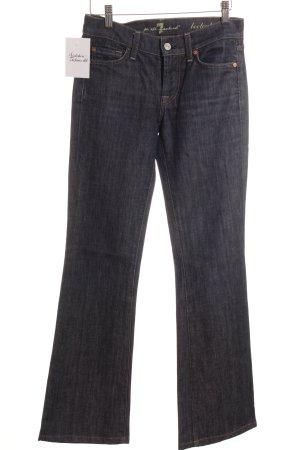 7 For All Mankind Jeansschlaghose dunkelblau Jeans-Optik