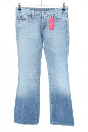 7 For All Mankind Jeansschlaghose blau Casual-Look