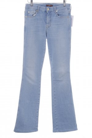 7 For All Mankind Jeansschlaghose himmelblau Jeans-Optik