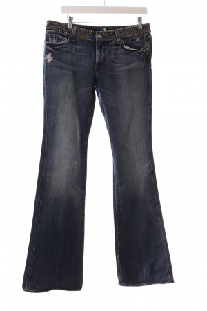 7 For All Mankind Jeansschlaghose mehrfarbig Used-Optik