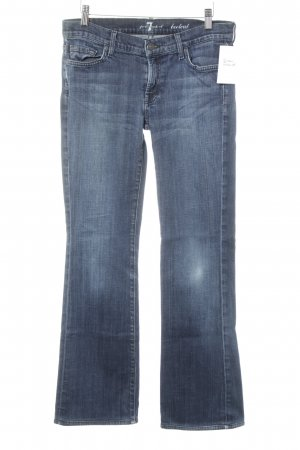 7 For All Mankind Jeansschlaghose stahlblau Casual-Look