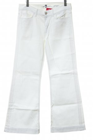 7 For All Mankind Jeansschlaghose wollweiß Business-Look