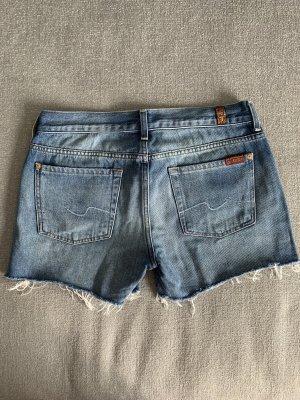7 For All Mankind Jeansowe szorty niebieski