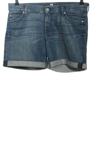7 For All Mankind Pantaloncino di jeans blu stile casual