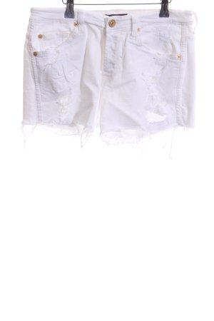 7 For All Mankind Pantalón corto de tela vaquera blanco look casual