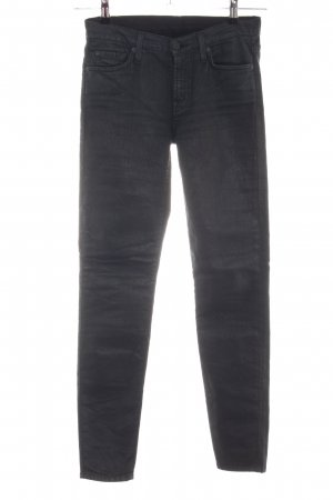 7 For All Mankind Karottenjeans schwarz Casual-Look