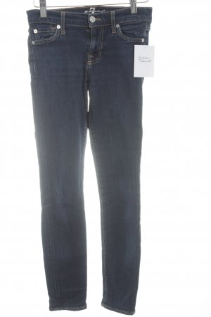7 For All Mankind Karottenjeans dunkelblau Casual-Look