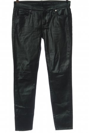 7 For All Mankind Faux Leather Trousers black casual look