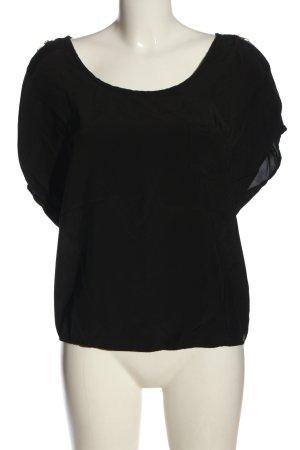 7 For All Mankind Short Sleeved Blouse black elegant