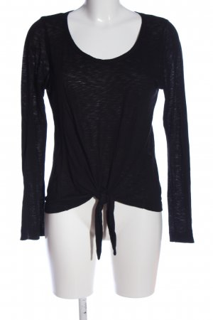 7 For All Mankind Long Sleeve Blouse black casual look