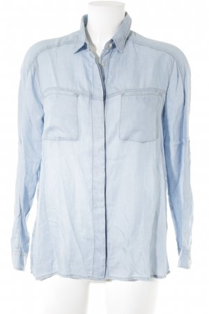7 For All Mankind Long Sleeve Shirt azure casual look