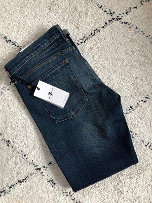 7 For All Mankind Boyfriend jeans donkerblauw-blauw