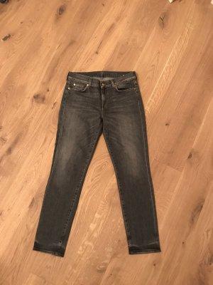7 For All Mankind Jeans met rechte pijpen antraciet