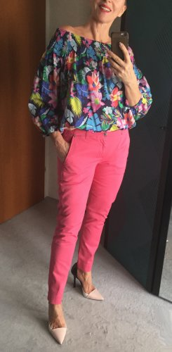 7 for all Mankind, neue Hose , Pyper Chino, Hot Pink , rosa, - Gr. 28