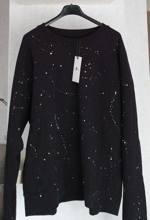 7 For All Mankind Suéter negro-blanco Algodón