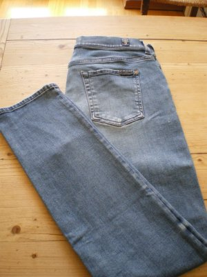 7 for all mankind, relaxed skinny, aged denim, Gr. 28
