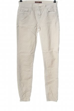 7 For All Mankind Drainpipe Trousers natural white mixed pattern casual look
