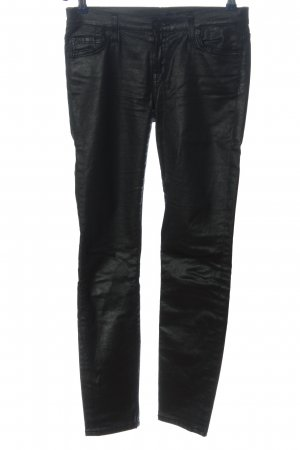 7 For All Mankind Drainpipe Trousers black casual look