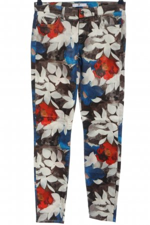 7 For All Mankind Drainpipe Trousers allover print casual look