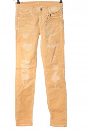 7 For All Mankind Drainpipe Trousers light orange casual look