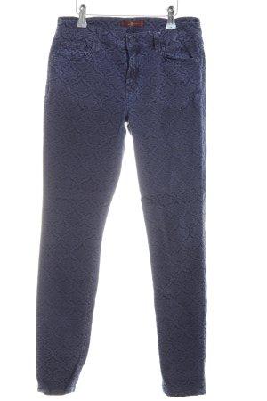 7 For All Mankind Röhrenhose blau Allover-Druck Casual-Look