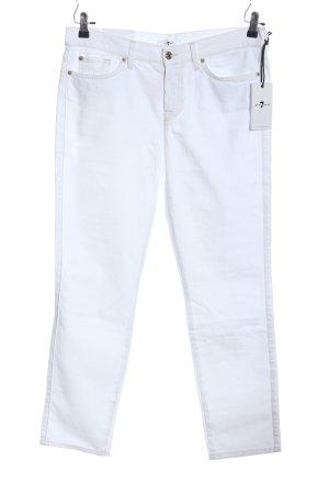 7 For All Mankind Spodnie rurki biały W stylu casual