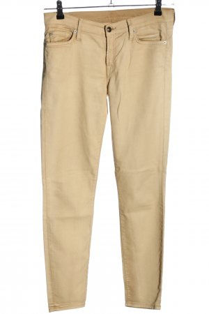 7 For All Mankind Röhrenhose creme Casual-Look