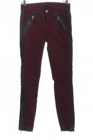 7 For All Mankind Röhrenhose rot Casual-Look
