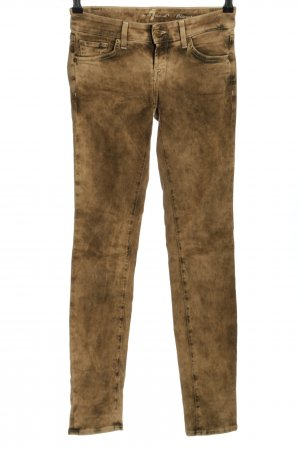 7 For All Mankind Röhrenhose goldfarben Casual-Look