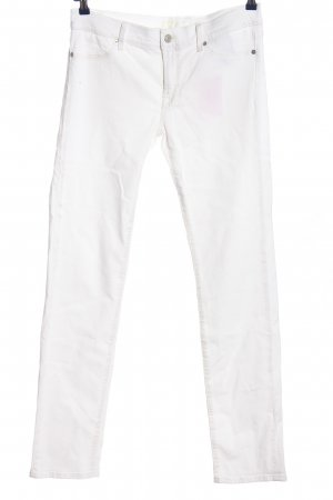 7 For All Mankind Drainpipe Trousers white casual look