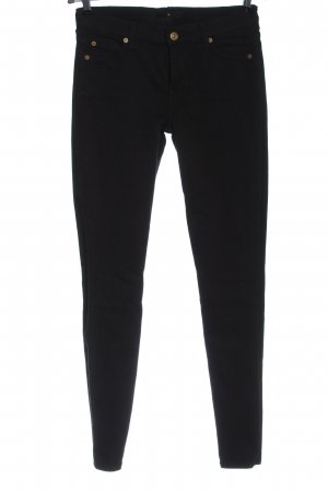 7 For All Mankind Pantalone a sigaretta nero stile casual