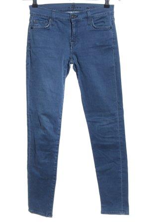 7 For All Mankind Röhrenhose blau Casual-Look