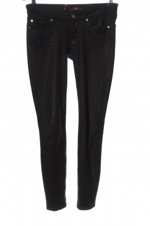 7 For All Mankind Pantalón de tubo negro look casual