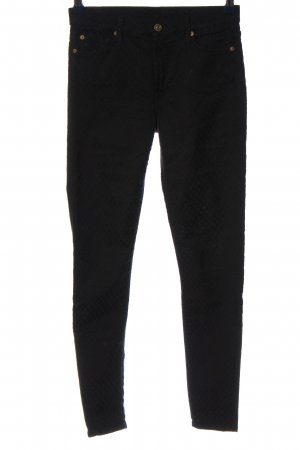 7 For All Mankind Röhrenhose schwarz grafisches Muster Casual-Look