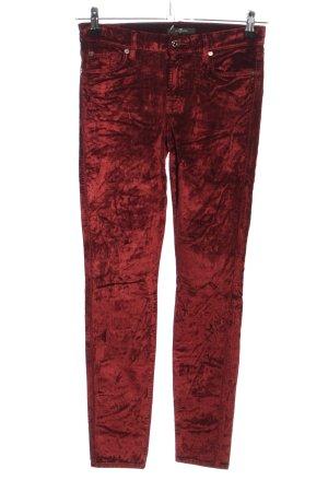 7 For All Mankind Pantalone a sigaretta rosso stile casual