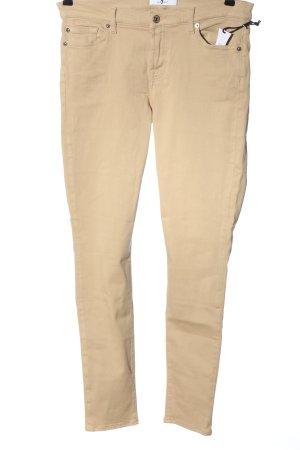 7 For All Mankind Jeans cigarette crème élégant