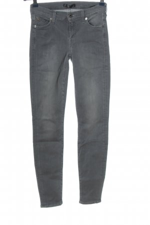 7 For All Mankind Röhrenjeans hellgrau Casual-Look