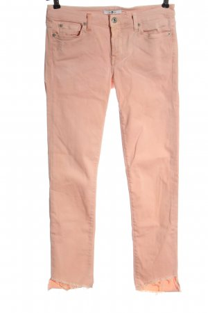 7 For All Mankind Jeans a sigaretta color carne stile casual