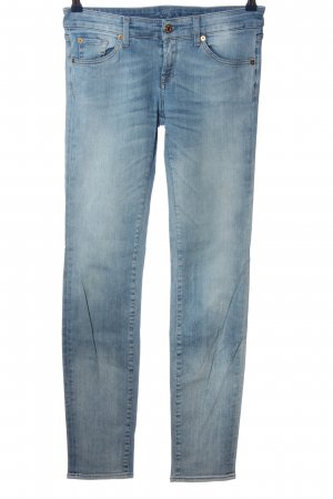 7 For All Mankind Jeans cigarette bleu style mode des rues