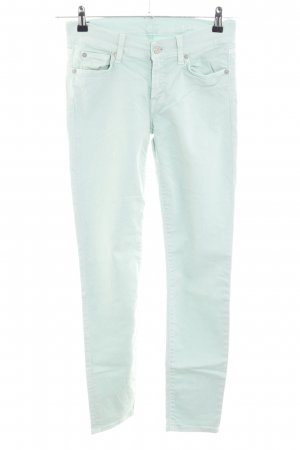 7 For All Mankind Röhrenjeans türkis Casual-Look