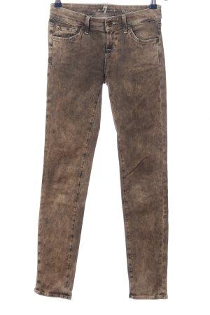 7 For All Mankind Jeansy rurki brązowy W stylu casual