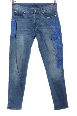 7 For All Mankind Jeansy rurki niebieski W stylu casual