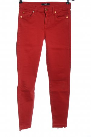 7 For All Mankind Röhrenjeans rot Casual-Look
