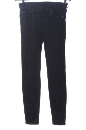 7 For All Mankind Jeans a sigaretta nero motivo a righe stile casual