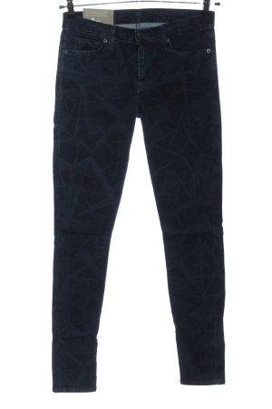 7 For All Mankind Jeans a sigaretta blu motivo astratto stile casual