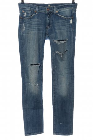 7 For All Mankind Röhrenjeans blau Casual-Look