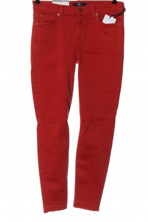 7 For All Mankind Jeans cigarette rouge style décontracté