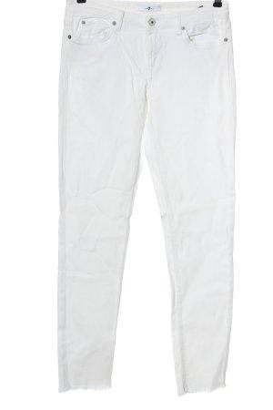 7 For All Mankind Jeans cigarette blanc style décontracté