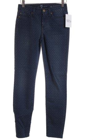 7 For All Mankind Röhrenjeans dunkelblau Ikatmuster Street-Fashion-Look